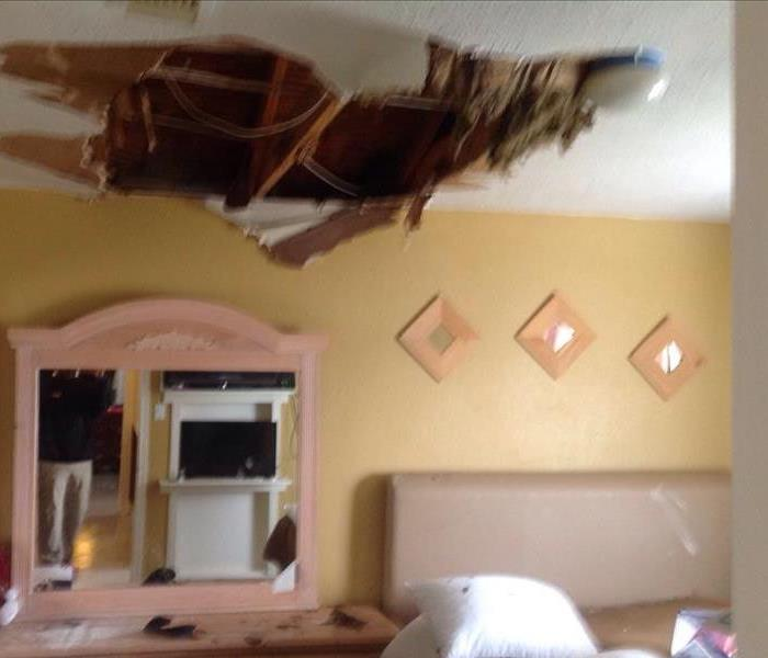 Ceiling Damage in Cypress, TX Before